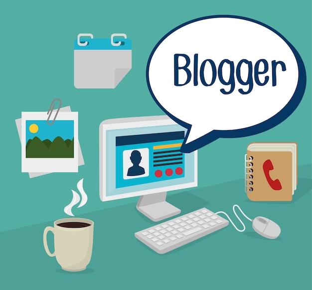 Blog design, ilustração vetorial.