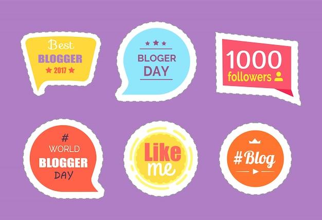 Blogger day followers statistics adesivos