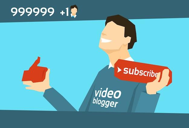 Blogger de vídeos populares com como se inscrever