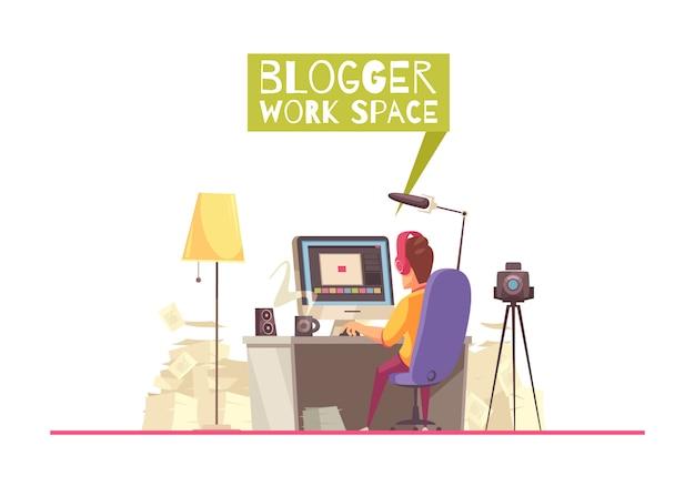 Blogging espaço de trabalho fundo