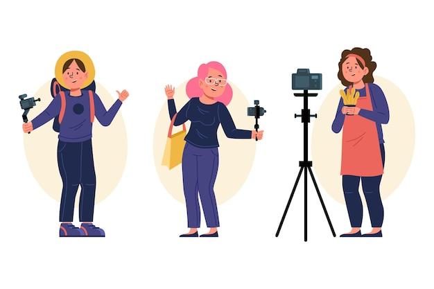 Blogueiro de ilustrações desenhadas à mão