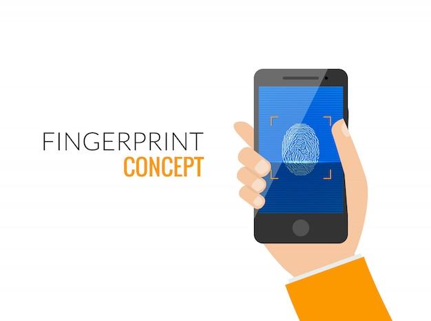 Bloqueio de acesso por telefone inteligente com impressão digital