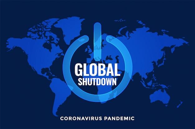 Bloqueio e desligamento globais com mapa-múndi