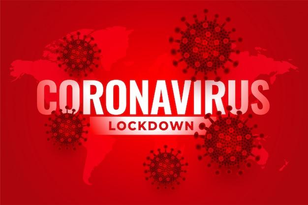 Bloqueio global de coronavírus devido à propagação da infecção