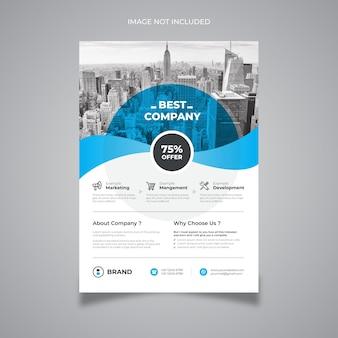 Blue business flyer