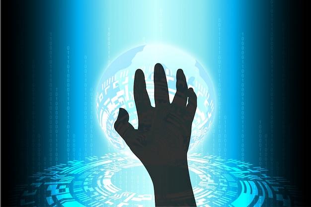 Blue future technology cibercriminalidade a ameaça à segurança na internet