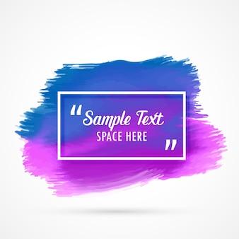 Blue purple watercolor stain vector background com espaço de texto