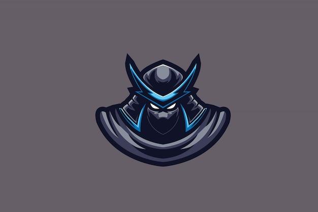 Blue samurai e sports logo