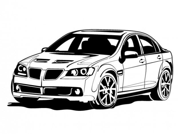 Bmw carro branco do ícone do vetor