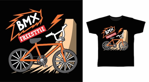 Bmx freestyle para design de camisetas