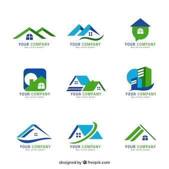 Boa coleção de logotipos imobiliários