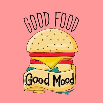 Boa comida bom humor
