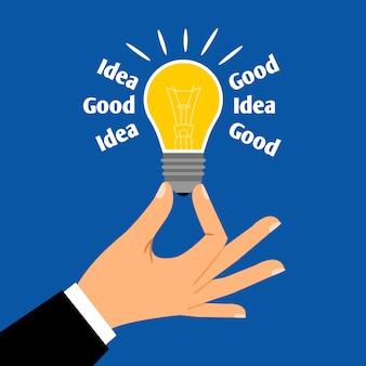 Boa ideia de negócio lâmpada