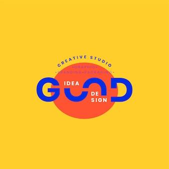 Boa ideia design de crachá de logotipo