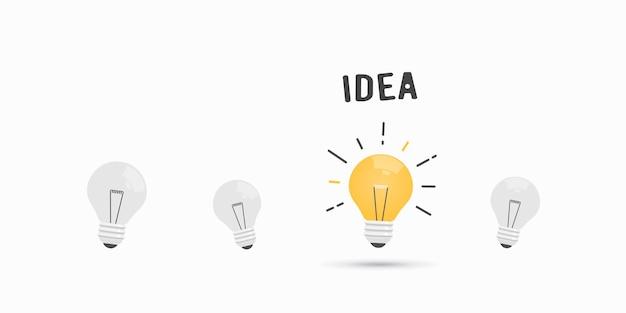 Boa ideia lâmpada isolada no branco