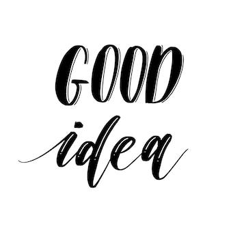 Boa ideia