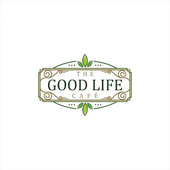Boa vida cafe chá ou café Vetor Premium