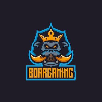 Boar mascot logo