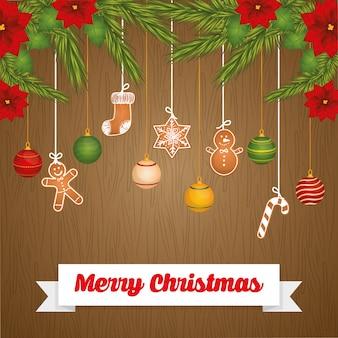 Boas festas e design de cartão de feliz natal