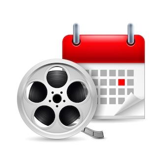 Bobina de filme e calendário