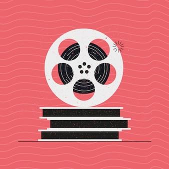 Bobina de filme e recipiente
