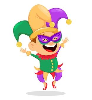 Bobo da corte do carnaval em uma ilustração da máscara