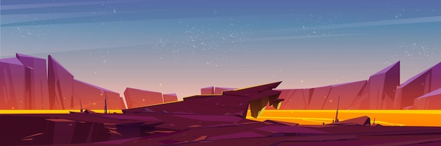 Boca de vulcão cheia de lava com bordas rochosas