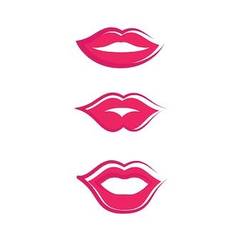 Boca sorriso vermelho mulher sexy lábios ilustração design