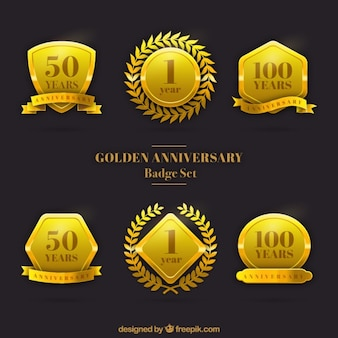 Bodas de ouro conjunto badge