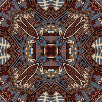 Boêmia étnica tribal moda abstrata padrão indiano