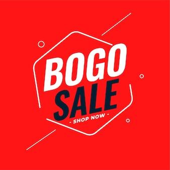 Bogo moderno - compre um e leve um design de banner de venda
