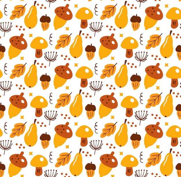 Boho abstrato outono padrão sem emenda. bohemian imprimir estilo de doodle estético contemporâneo criativo, textura de repetição, plano de fundo. ilustração vetorial.