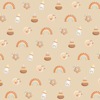 Boho baby background