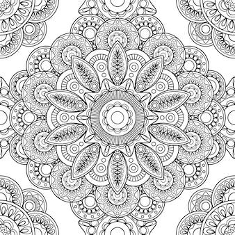 Boho doodle padrão sem emenda