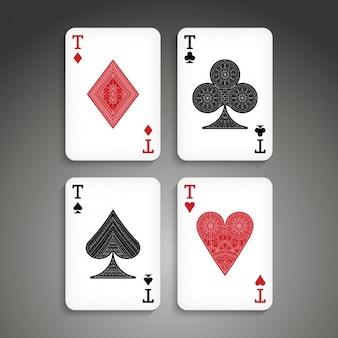 Boho estilo cartões de diseño