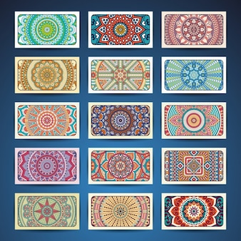 Boho estilo coleção cartões