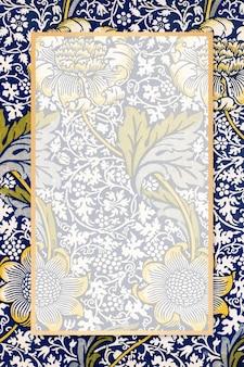 Boho floral frame vector padrão william morris