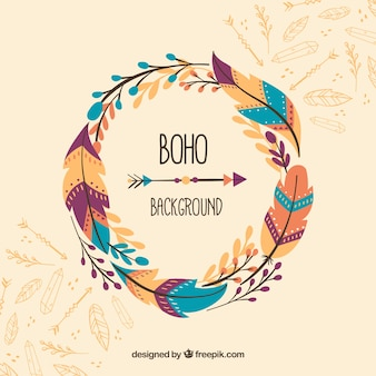 Boho fundo no estilo hippie