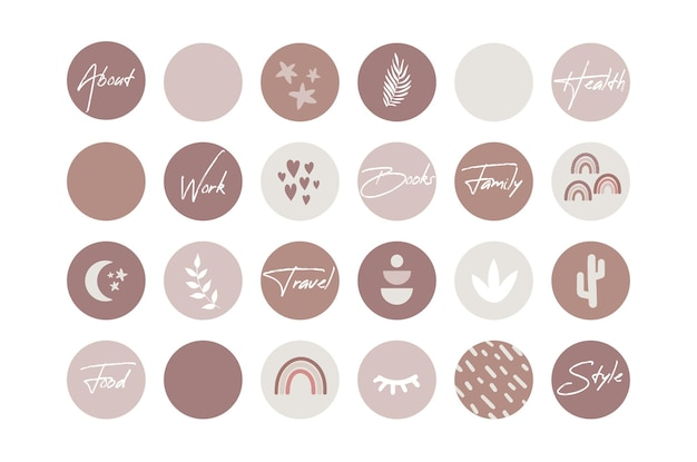 Boho instagram destaca ícones de capa