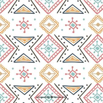 Boho padrão com elementos coloridos
