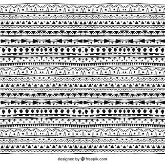 Boho padrão com elementos negros
