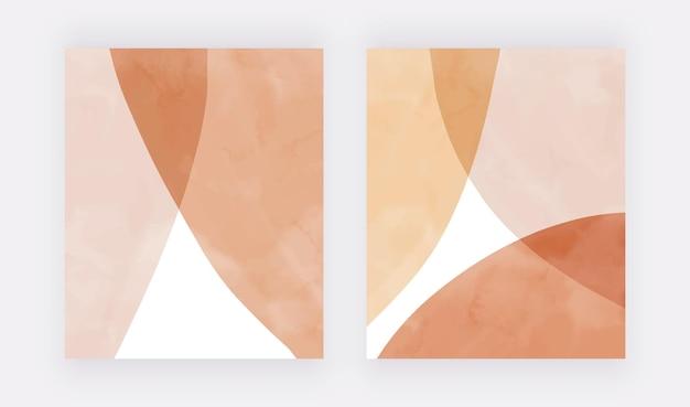 Boho pintura à mão em aquarela arte impressos na parede fundos de design moderno
