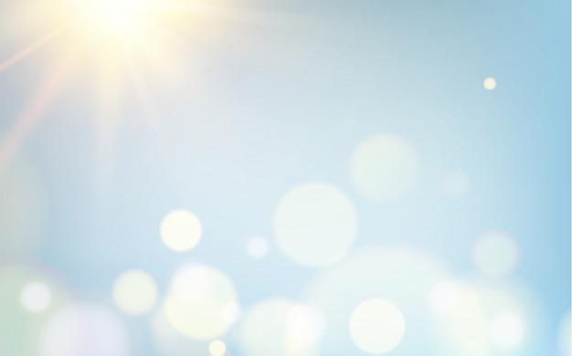 Bokeh abstrato bolhas sobre fundo claro.