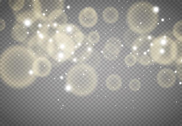 Bokeh abstrato luzes com ilustração de fundo de luz suave
