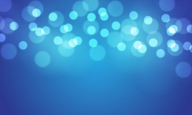 Bokeh azul abstrato desfocar o fundo claro.