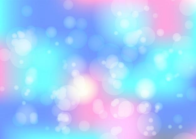 Bokeh azul e rosa abstrato