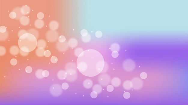 Bokeh blur formas abstratas círculos rosa cinza escuro em fundo gradiente vector