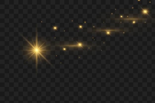 Bokeh borrado luzes flare efeito partículas redondas.