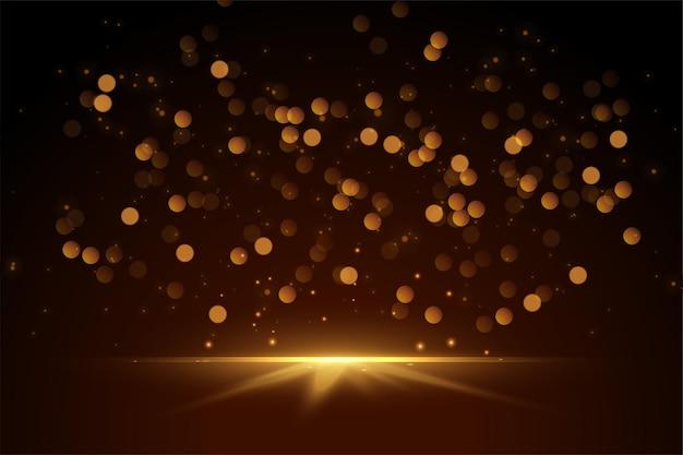 Bokeh brilhante e brilhos com design de luzes