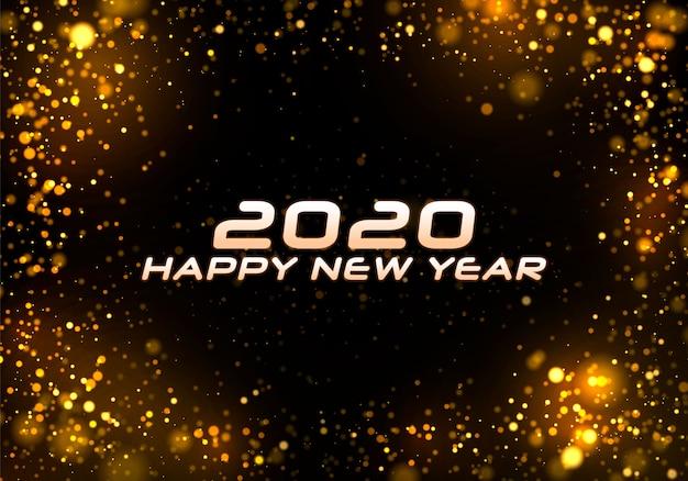 Bokeh brilho fundo de natal 2020.